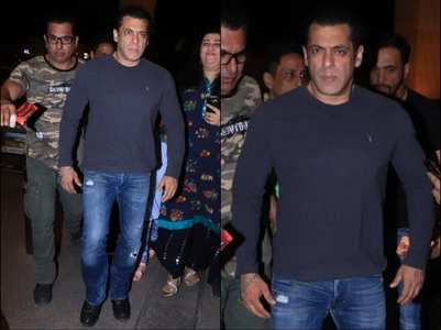 Photos: Salman heads to Goa for 'Radhe' shoot