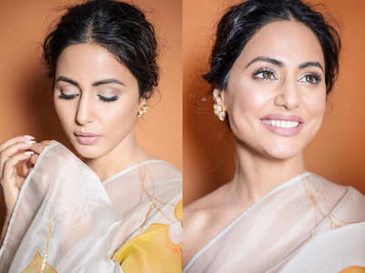 6 steps to get Hina Khan's nude make-up look