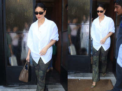 Pic: Kareena makes camouflage print look chic