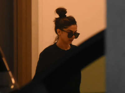 Pics: Deepika spotted en route for a meeting