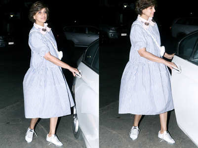 Sonali Bendre did this PECULIAR thing to her shoes and it's going to be the next BIG trend this season