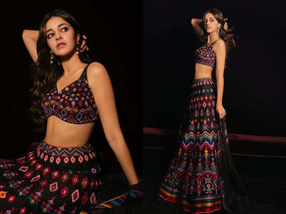 Ananya Panday just wore the most EXOTIC black lehenga ever