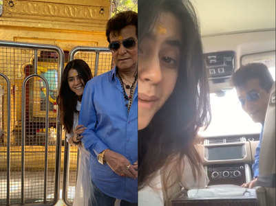 Ekta on temple sojourn with father Jeetendra