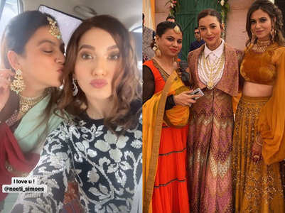 BB7 winner Gauahar attends a wedding