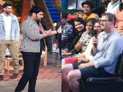 Kapil interacts with a foreign guest, watch