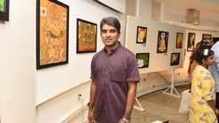 Art canvases of Pratheesh Parameswaran