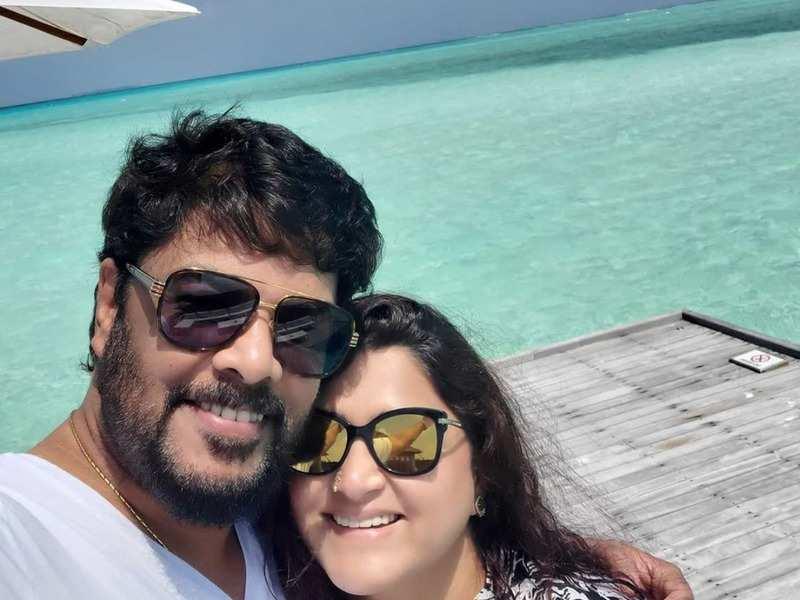 Lakshmi Stores actress Khushbu holidays in Maldives with husband Sundar C