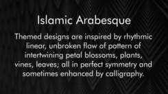 Islamic Arabesque of Architectural Gems