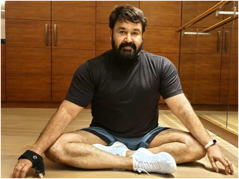 Post-workout glow is real! This picture of Mohanlal proves it