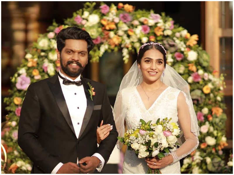 Balu Varghese and Aileena Catherin tie the knot in a starry ceremony