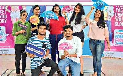(Clockwise) Semi-finalists Aditi Chudasama, Priyanka Jangid, Sweta Mishra, Sakshi Golhar, Sanskruti Agarwal, Vishwas Bhadoria and Manish Sen