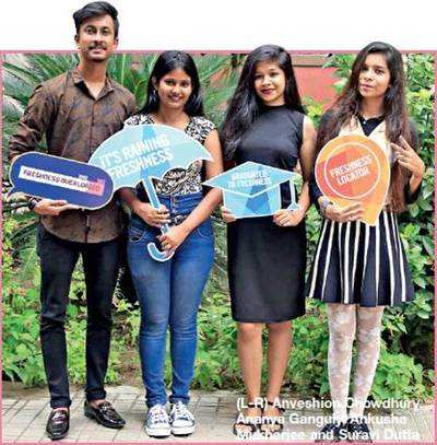 (L-R) Anveshion Chowdhury, Ananya Ganguly, Ankusha Mukherjee and Suravi Dutta Bhowmik from Swami Vivekananda Institute of Modern Science