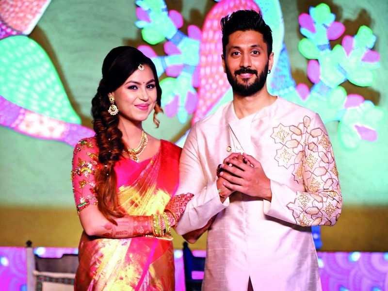 Philanthropy and folk art mark Chetan and Megha's wedding day