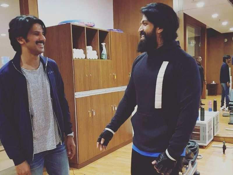 Rocky Bhai meets DQ Bhai