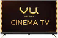 VU 108 cm (43 inches) 4K Ultra HD Cinema Android Smart LED TV 43CA With 40W Front Soundbar (Black)