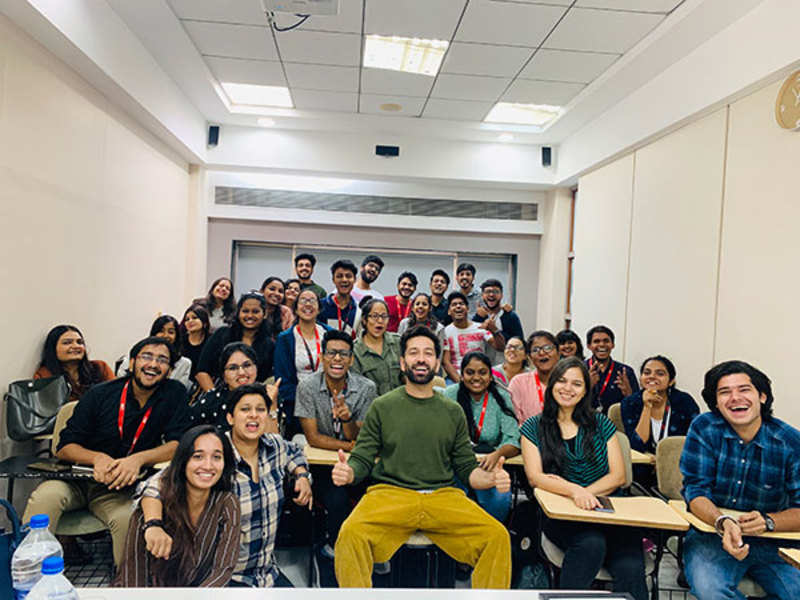 Nakuul Mehta interacts with media students in the city