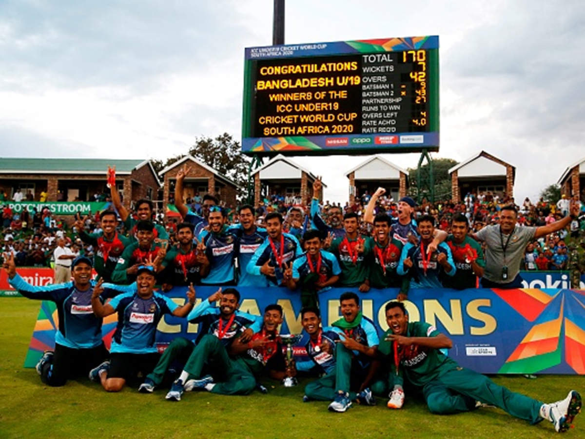 Bangladesh beat India to win maiden ICC U-19 World Cup title | Cricket News  - Times of India