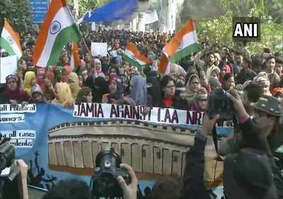 Image result for Jamia students march to Parliament amid heavy security deployment