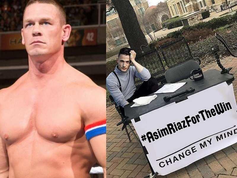 Bigg Boss 13: WWE wrestler John Cena is rooting for Asim Riaz; Himanshi Khurana reacts to his latest post