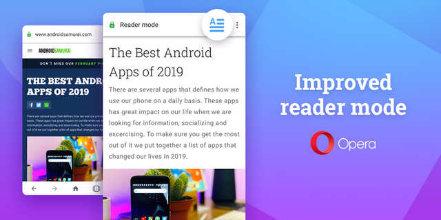 Opera for Android update brings improved reader mode to the browser