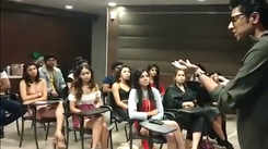 Everyuth Times Fresh-face season 12: Voice Projection session with Sachin Kumbhar