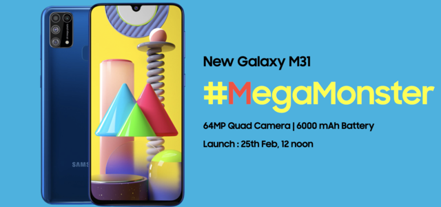 Samsung Galaxy M31 with 64MP quad-camera setup to launch on February 25