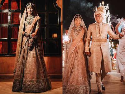 This bride wore the prettiest blush pink lehenga