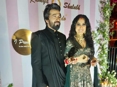 First pics: Kamya, Shalabh's reception party