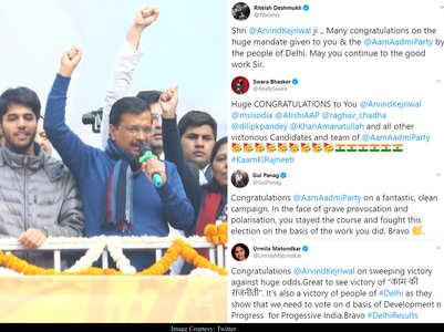 B-town congratulates AAP for their win in Delhi