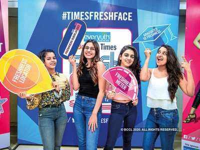 Semi-finalists: (L to R): Sanskriti Chauhan, Urja Vadera, Prachi Jain and Jahnvi Pathak