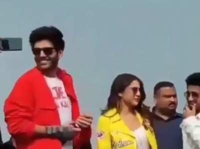 Kartik blushes as fans call Sara Bhabhi