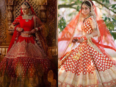 5 lehengas that made these brides perfect Valentine brides