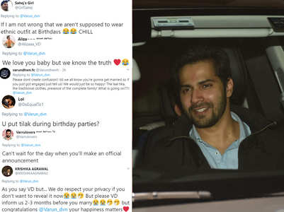 Fans react to Varun's roka denial tweet