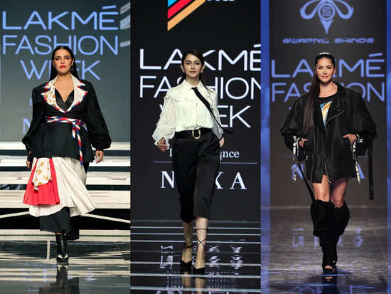 Lakme Fashion Week Day 2: Bollywood beauties flaunt various styles on the ramp
