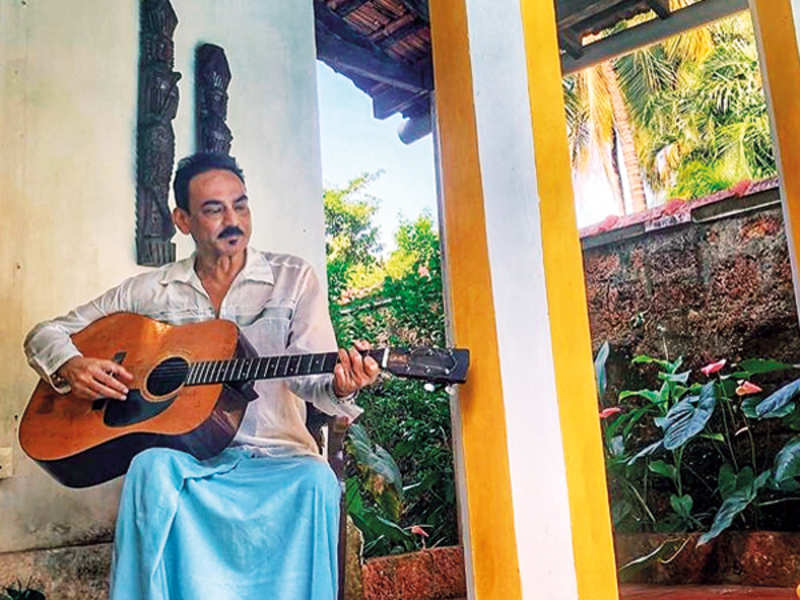 Wendell Rodricks at his Goa home