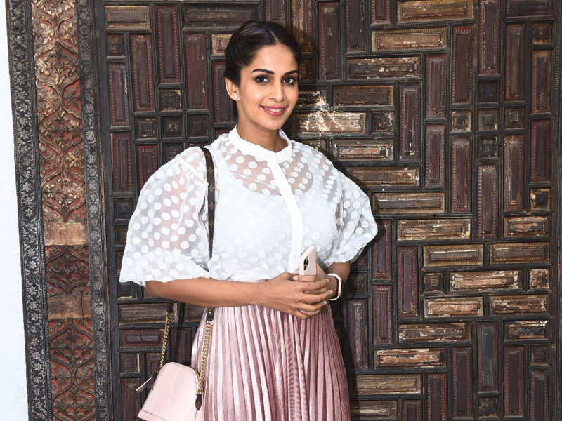 Samyuktha looked pretty at Contempo Lifestyle pop up exhibition at The Slate