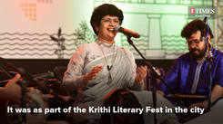 Singer Lovely Janardhanan performs in Kochi