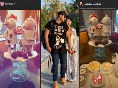 Pics from Arjun-Malaika's V-Day celebrations