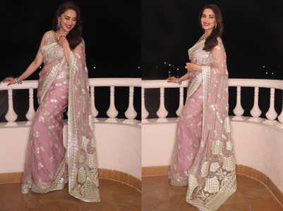 Madhuri Dixit's pink sari is just perfect