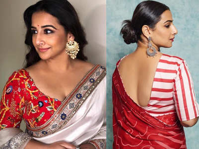 5 sari and blouse colour combinations to steal from Vidya Balan