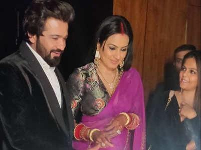 Unseen pics: Kamya, Shalabh's Delhi reception