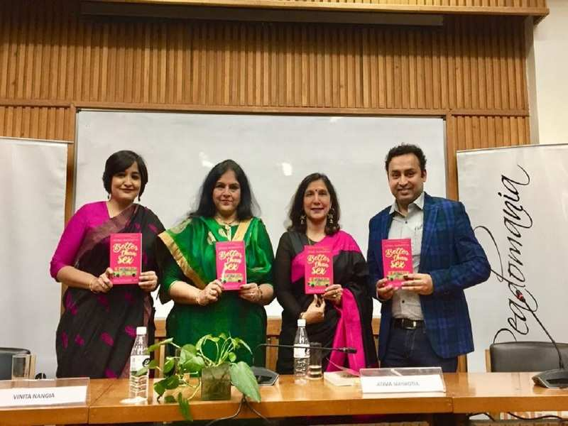 At the launch of the book 'Better Than Sex' by Atima Mankotia