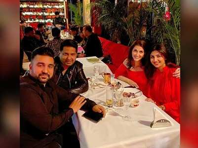 Shilpa Shetty & Raj Kundra go on a double date