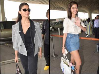 Alia, Ananya & others leave for Filmfare Awards