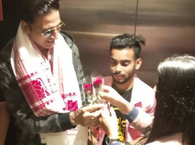 Akshay gets showered with love in Assam