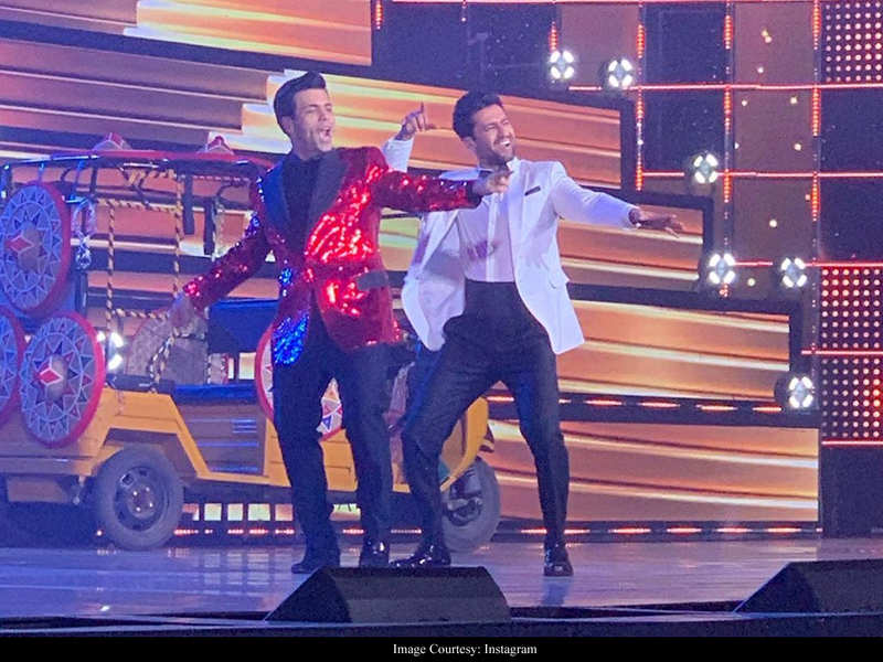 65th Amazon Filmfare Awards 2020: Karan Johar and Vicky Kaushal are high on energy as they kick start the grand event