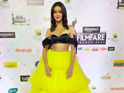 Ananya marks her debut at Filmfare Awards