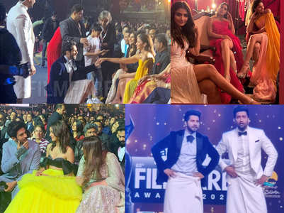 Candid moments from Filmfare Awards 2020