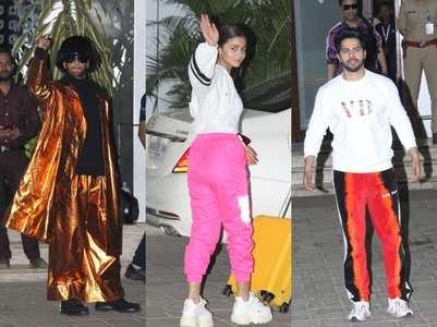 Celebs return after attending Filmfare Awards