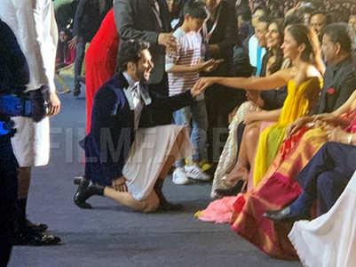 Varun goes down on knees for Alia; fans react